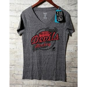 Gray NJ Devils short sleeve t shirt NWT